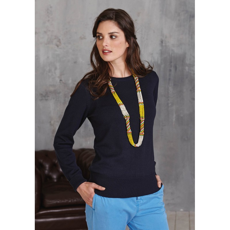 PULL COL ROND FEMME 968