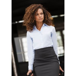 CHEMISE LADIES OXFORD SHIRT CHEMISE OXFORD FEMME MANCHES LONGUES RUSSELL COLLECTION RU932F