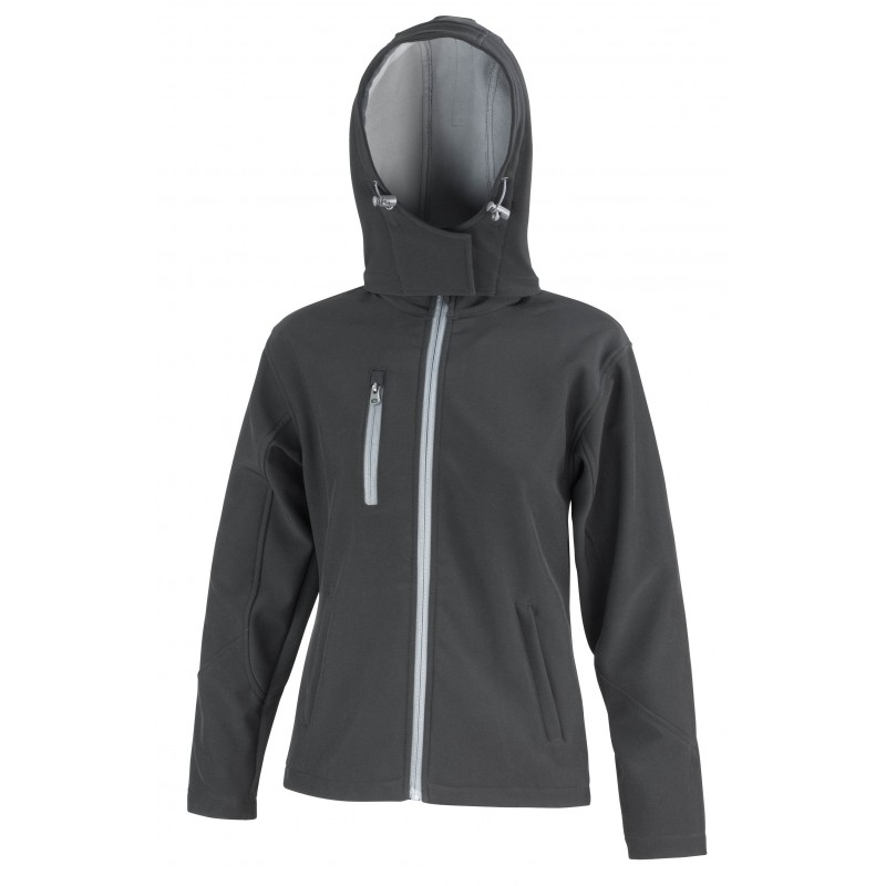 Softshell Women's Performance Hooded Softshell Veste Softshell Capuche Femme RESULT R230F