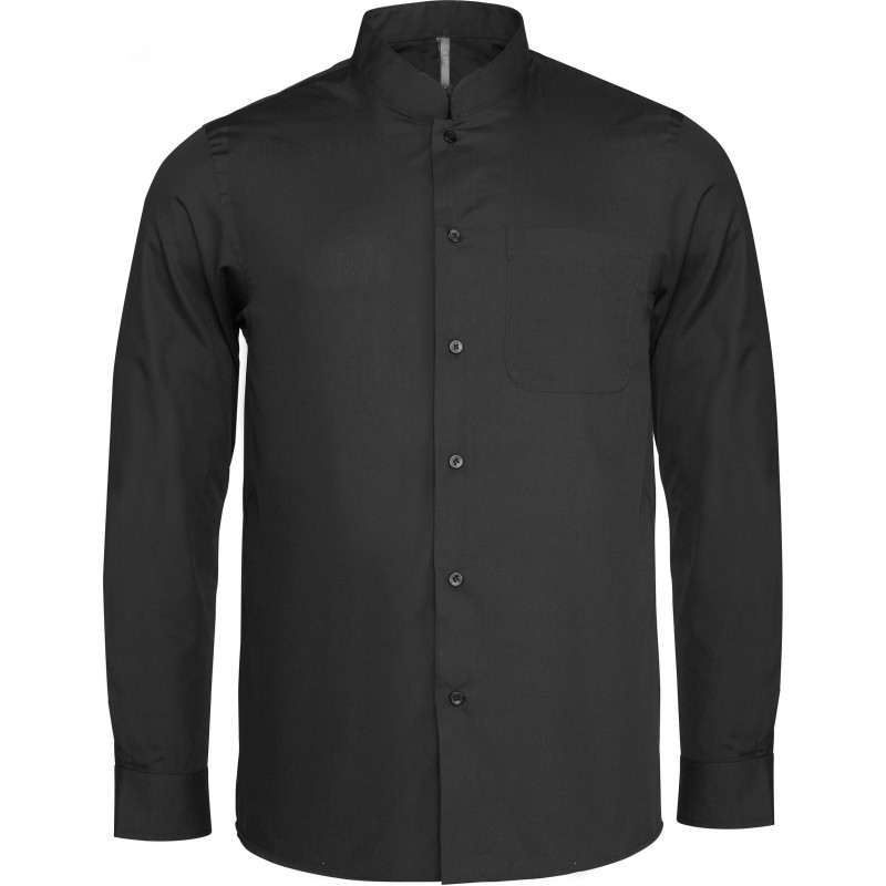 CHEMISE COL MAO MANCHES LONGUES KARIBAN K515