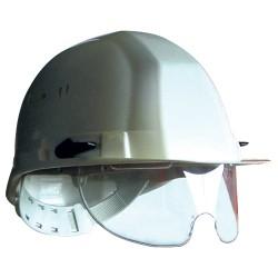 Casque avec lunettes intégrées et jugulaire
