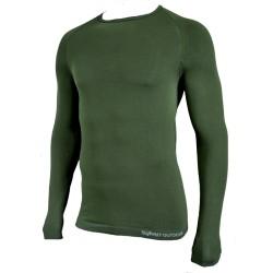 Tee-shirt 1ère peau micro aéré. Vert Kaki