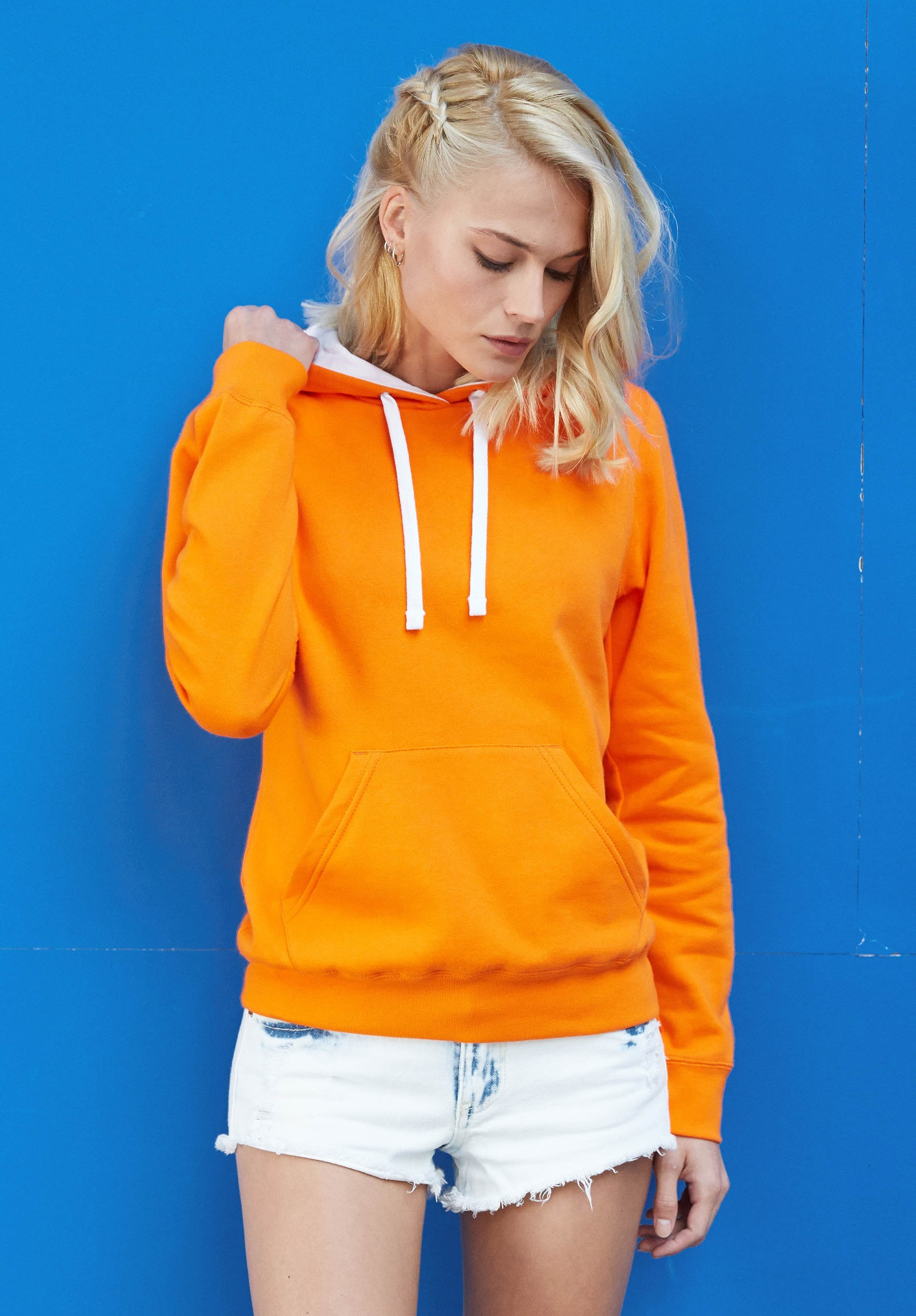 Sweat-shirt capuche contrastée femme - Arc Distribution 1b7e1460b8c