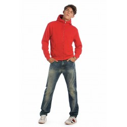 B&C MONSTER MEN SWEAT-SHIRT HOMME ZIPPÉ CAPUCHE B&C CGWM645