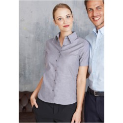 CHEMISE OXFORD MANCHES COURTES FEMME KARIBAN