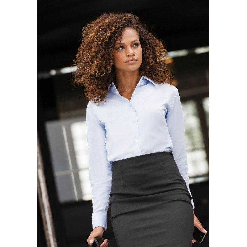 Distribution Arc Oxford Longues Chemise Femme Manches wTf8xqA