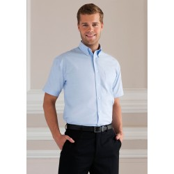 OXFORD SHIRT CHEMISE OXFORD HOMME MANCHES COURTES RUSSELL COLLECTION RU933M