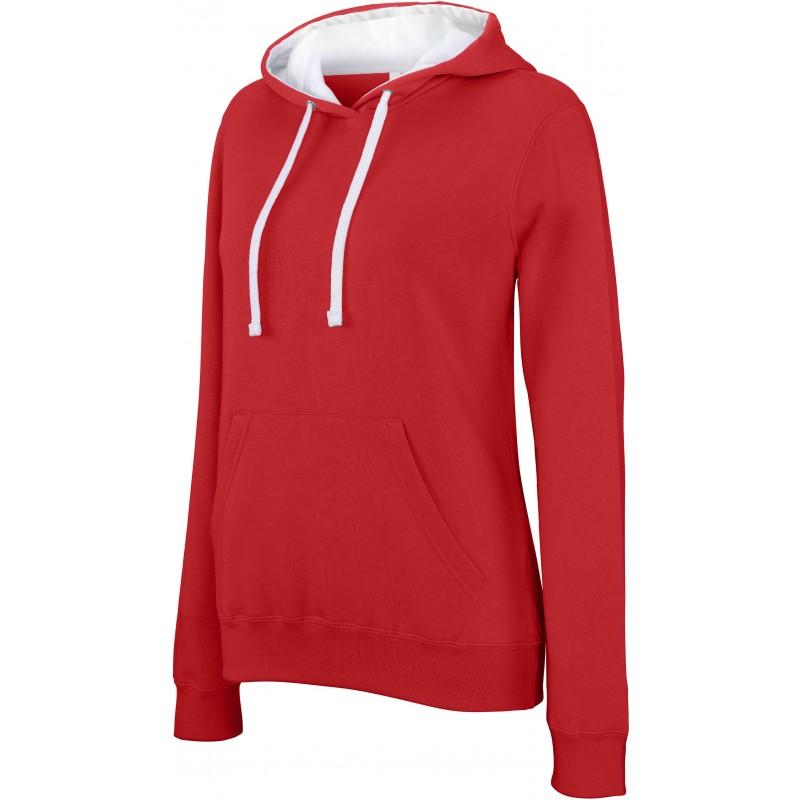 ... Sweat-shirt capuche contrastée femme KARIBAN K465 ... b0e5af5c386
