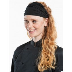 Headwear Wrap Black Stretch