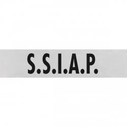 Dossard gris lettres noires S.S.I.A.P. 27 x 10cm