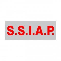 Bande-poitrine grise lettres rouges S.S.I.A.P. 13 x 5 cm