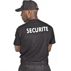Tee-shirt Sécurité noir marquage blanc