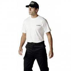 Tee-shirt Sécurité blanc marquage noir